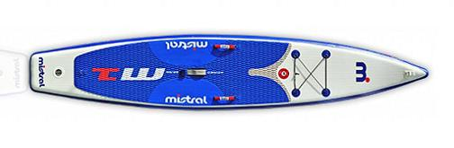 The inflatable Mistral M1 Race SUP