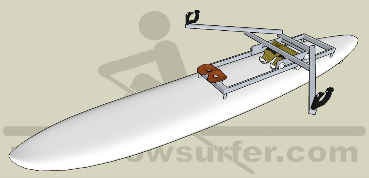 RowSurfer on a sailboard or sup board