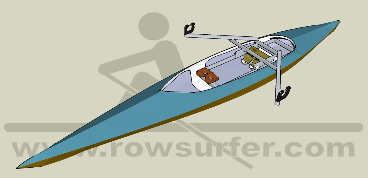 RowSurfer mounted in a kayak
